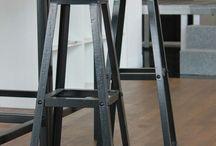 Meble, furniture, loft, Steel, wood