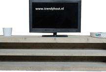 Tv meubel Trendyhout / Kasten van trendyhout