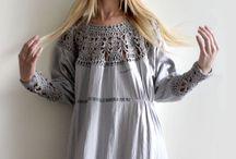 Платье с вязаной кокеткой