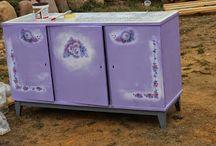 Lilac сupboard. Part 2. / Furniture restoration by Ievgeniia Kress ;)