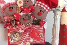 Arreglo  de Navidad con con muñecos
