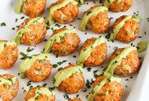 Salmon meat balls