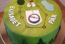 orienteering birthday cake