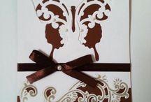 Karten, Cards / Einladungskarten und Glückwunschkarten für Hochzeit, Verlobung, Geburtstag etc.