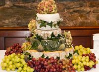 Cheese stacks wedding cakes