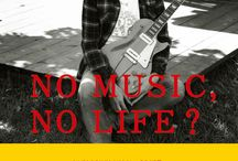 "No Music? No Life! / I kept ""liking"" these ditties without knowing where to put them...there IS a common chord that ties them together (bad pun) ""No Music, No Life"" is a tag line from Japanese Tower Records... / by Laurie"