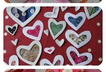 Preschool Valentine crafts