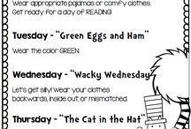 Dr. Seuss: Read Across America Month / Activities for celebrating Sr. Seuss's birthday on March 2nd and Read Across America month in March