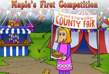 The Wafflehoffers Maple's First Competition / At the beginning of the story, we see Maple as a little selfish and unsure of herself. But by the end, she shows us the meaning of being gracious and determined.