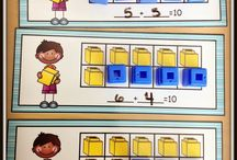 """15.9 - understanding of numbers / compose and decompose quantities to 10 (e.g., make multiple representations of numbers using two or more colours of linking cubes, blocks, dot strips, and other manipulatives; play """"shake and spill"""" games)"""