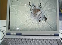 Broken laptops