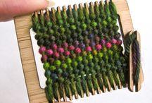 weaving - colours + textures