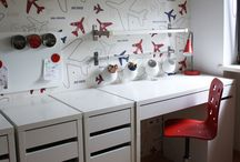dzieciorum / 7 Year Old Boys Bedroom: airplanes and helicopters, ikea furniture