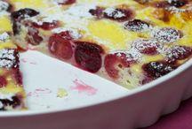 clafoutis e torta di farina di riso con uva