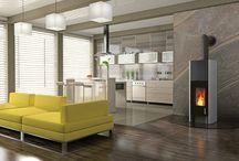 Stufe design Tonwerk / Queste moderne stufe ad accumulo uniscono il piacevole calore radiante di una stufa di maiolica con l'affascinante vista del fuoco di un caminetto o di una stufa a legna.
