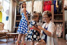Szycie na miarę De Marco dla mamy i córki :) / Sukienki szyte na miarę, online  Big and small princess :)