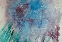 VAP1 Colour Self Directed - Abstract Space (Analogous Colour) / Analogous colour scheme inspired by CY Twombly.