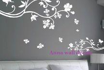 vinilo para pared pintado