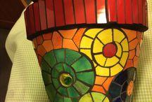 Macetas y mosaicos