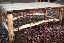Outdoor rustic furniture / by Arna Deter