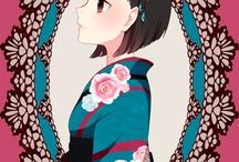 Kimono. Anime