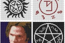 Cross Stitch-Supernatural and The Walking Dead.