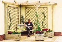 Tea corrner at garden