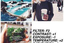 VSCO Instagram filters.