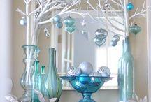 decoracion navidad azul