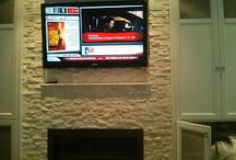 TV wall mounted installation above fireplace / Professional on-wall/ceiling/outdoor TV, Monitor, Speaker, Stereo and Projector installation, TV wall mount installation, Home Theatre Installation, Audio Video Installation, On-site wireless network optimization consultancy and router installation at reasonable rates. Cabling and wiring of Cat 5 & Cat 6 Data/Voice/Fax Network, coaxial cable, RJ11, RJ45 and patch panel termination.
