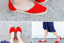 Crochet shoes/pantouffle