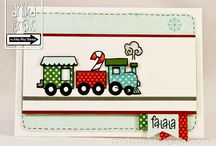 TAWS Christmas Express / this is such a fun mini set.. it's so easy to make a quick little holiday card, or a little boy card with this set..