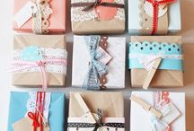 MAKE: wrap and pack / Ideas and inspiration for wrapping gifts and presents: ribbons, bows, envelopes, fabric wrapping, paper wrapping, Christmas presents, birthday presents, anniversary presents, unique wrapping paper