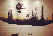 wall paintings (Star wars)