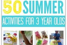 3-4 year old summer fun