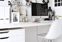 ☁️ h O m e ☁️ o f f i c e ☁️ / Home office, style, work, busy