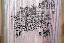 Tagliere con pirografia
