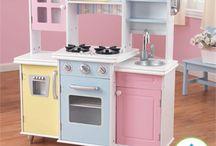 Cozinhas de Brincadeira / Modelos de cozinhas de brincadeira para crianças de madeira, de papelão e outros materiais
