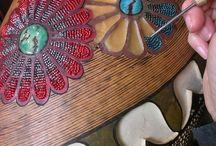 Wax inlaid jewellery