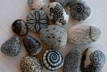 stone painting art/taş boyama örnekleri
