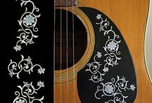 """Flower / inlay sticker """"Flower"""" guitar/ukulele decals"""