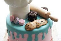 chef fondant cake