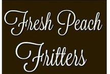 fresh peach fritters