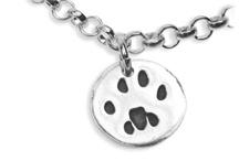 Silver Pet Prints Charms