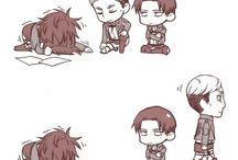 Levi, Hange, Erwin
