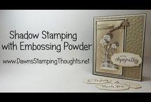 Shadow embossing