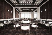 CASCADE RESTAURANT / Type: Conceptual // Restaurant Size: 400 sqm // Location: Dnepropetrovsk // Ukraine  Year: 2013