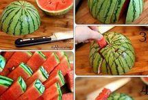 Подача овощей, ягод, фруктов