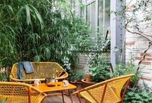 Colored outdoor furniture
