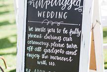 // Unplugged weddings //